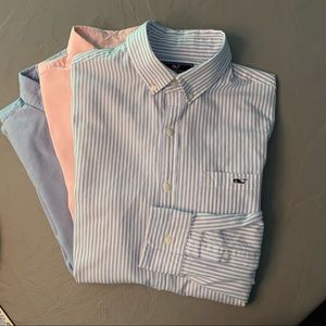 LOT OF THREE Vineyard Vines Oxford Shirt
